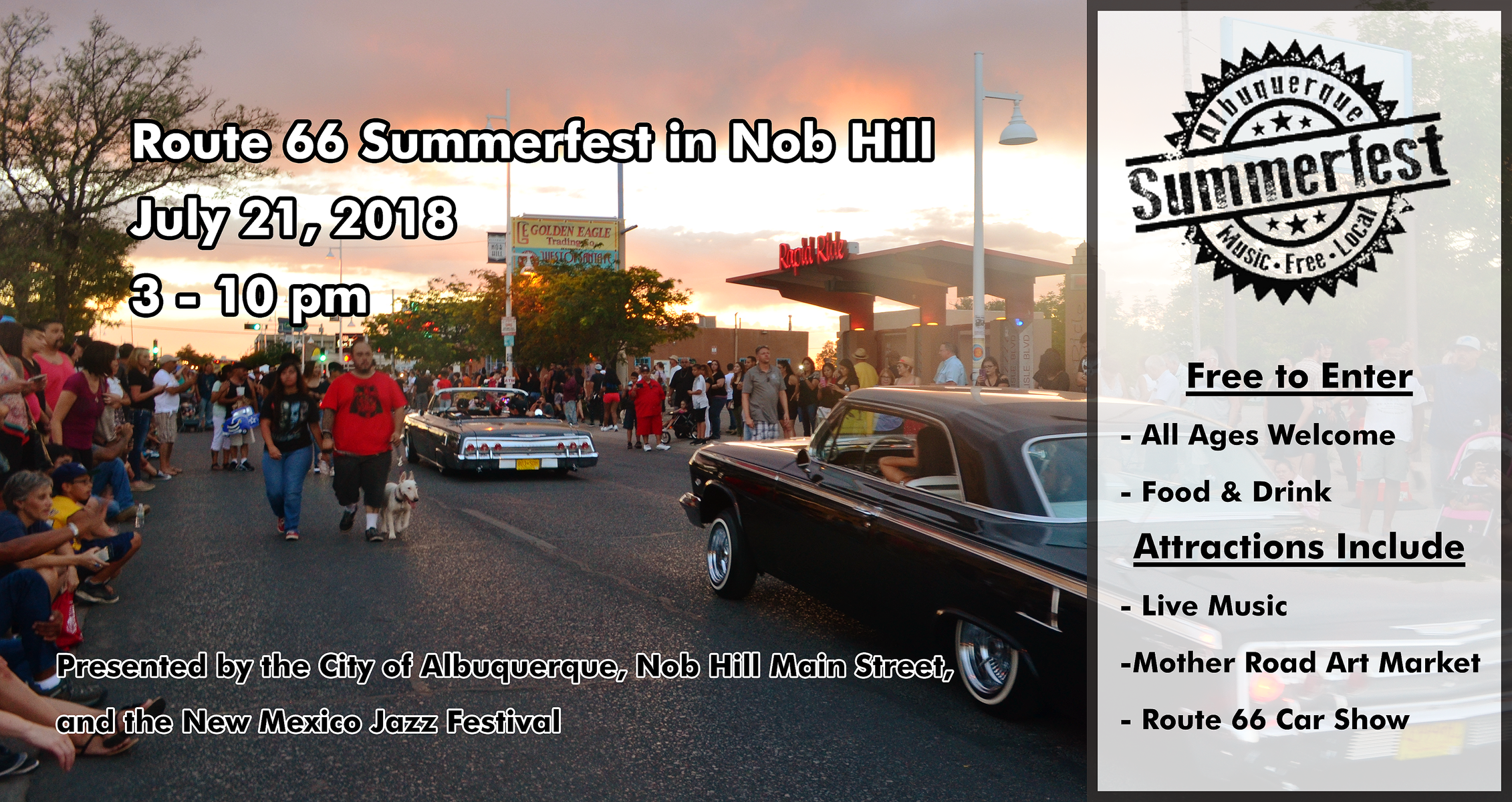 Summerfest On Route In Nob Hill Nob Hill Main Street - Market street car show